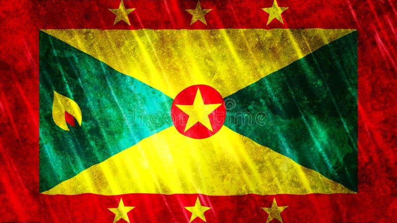 Grenada flaga royalty ilustracja