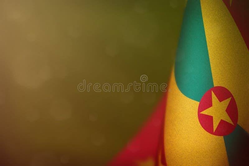 Grenada flagga för heder av den veterandagen eller minnesdagen Härlighet till de Grenada hjältarna av krigbegreppet på mörk samme royaltyfria bilder