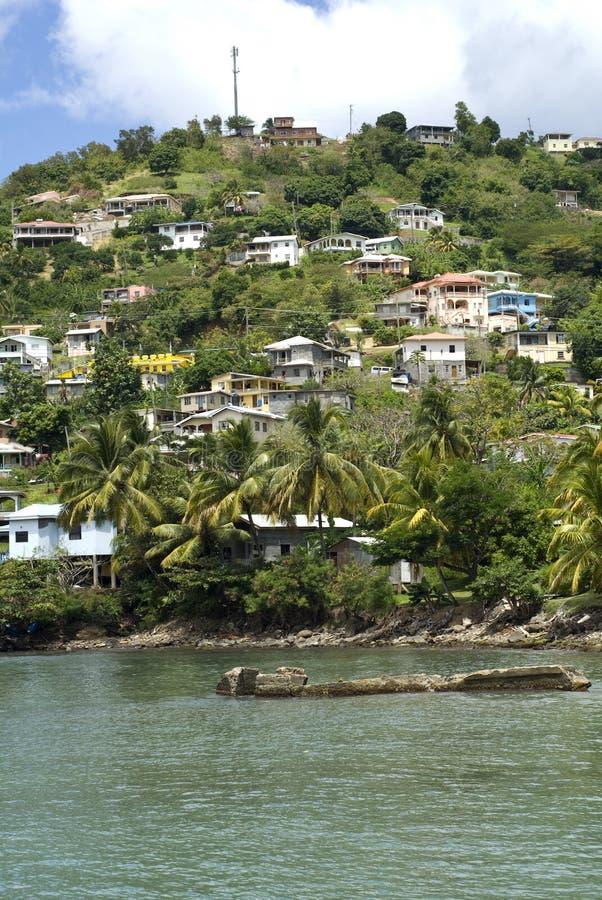 Grenada homes on the hillside.