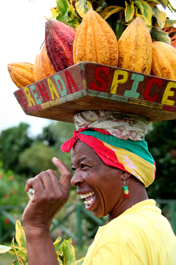 Download Grenada woman. editorial photo. Image of nutmeg, aroma - 23507401