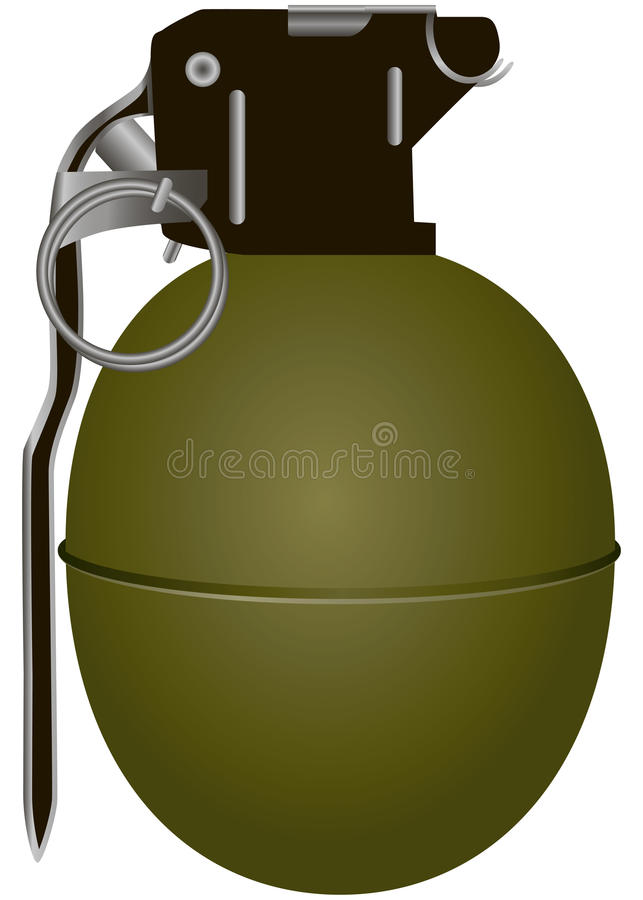 Grenade à main illustration libre de droits