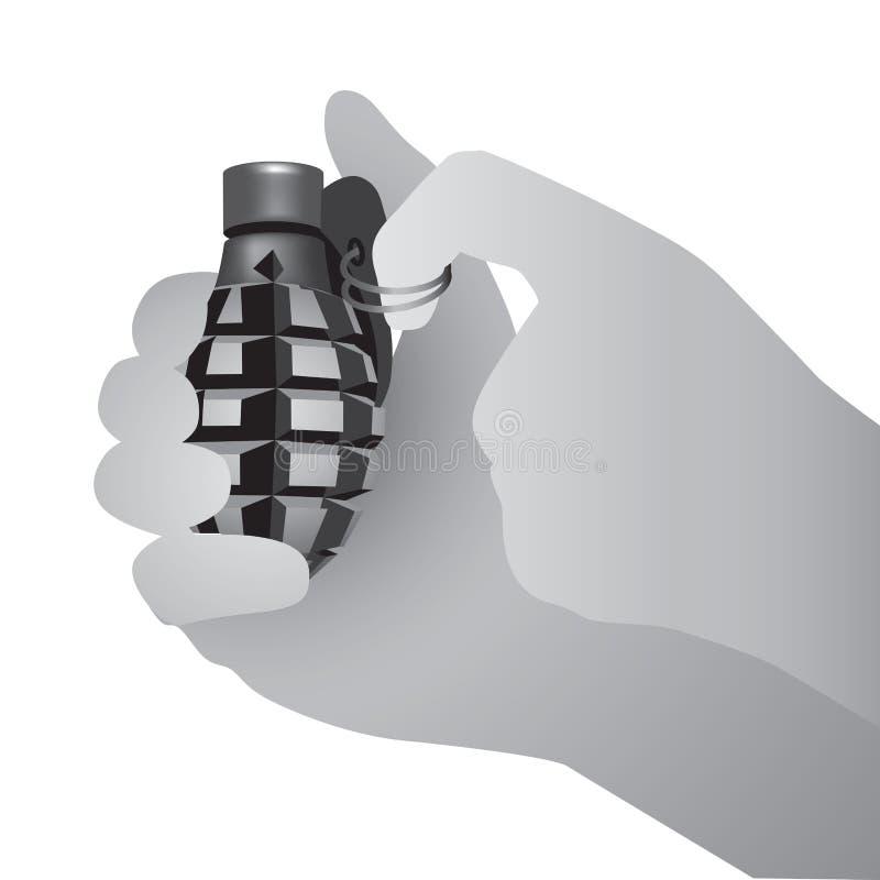 Grenade à main militaire illustration libre de droits