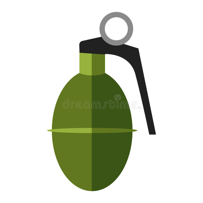 grenade bomb explosion weapons vector stock vector illustration rh dreamstime com  High Explosive Grenade Pinaple