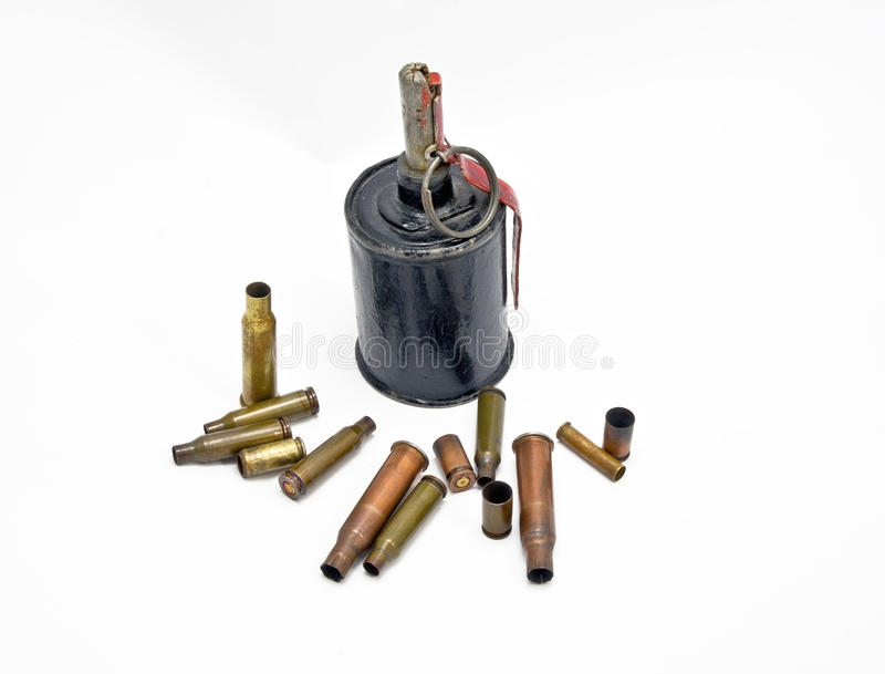 Download A grenade and bullet stock photo. Image of ammunition - 24625820