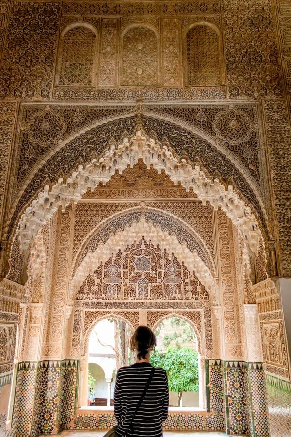 Grenade, Espagne - 5/6/18 : Palais de dynastie de Nasrid des lions, Alhambra photo stock