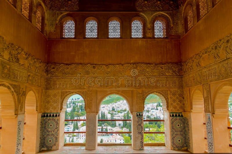 Grenade, Espagne - 5/6/18 : Palais de dynastie de Nasrid des lions, Alhambra image libre de droits