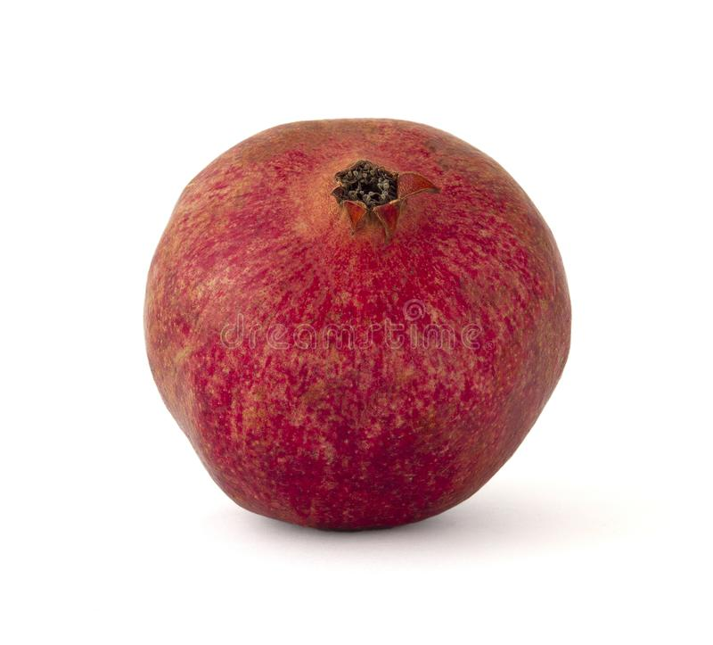 Grenade juteuse mûre rouge avec le rubis lumineux rempli du jus savoureux doux photos stock