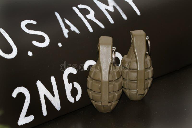 Grenades à main WW2 factices photo libre de droits