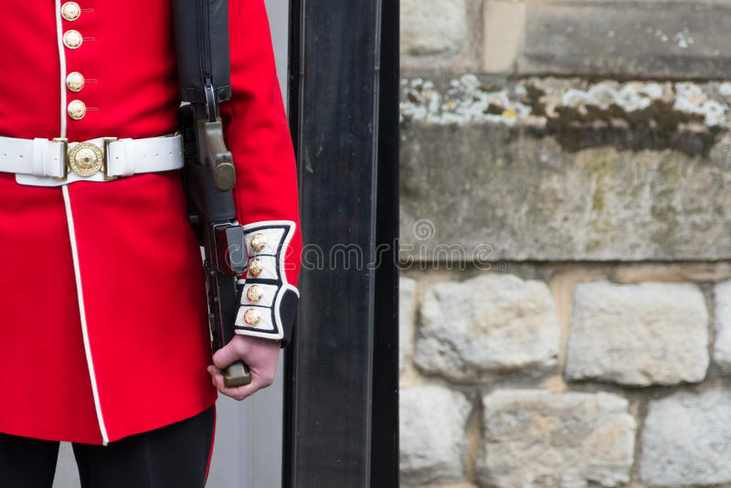 Grenadier Guard Tower of London. Grenadier guarding the Crown Jewels at the Tower of London stock photos