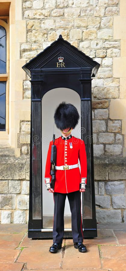Grenadier am Tower von London lizenzfreie stockfotografie
