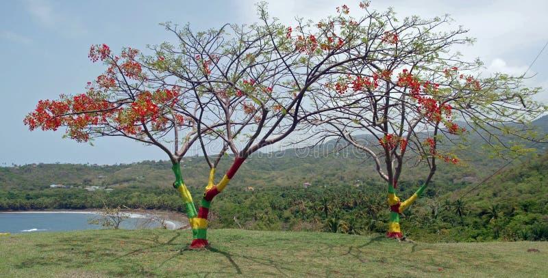 Grenadiskt självständighetsdagenträd arkivbild