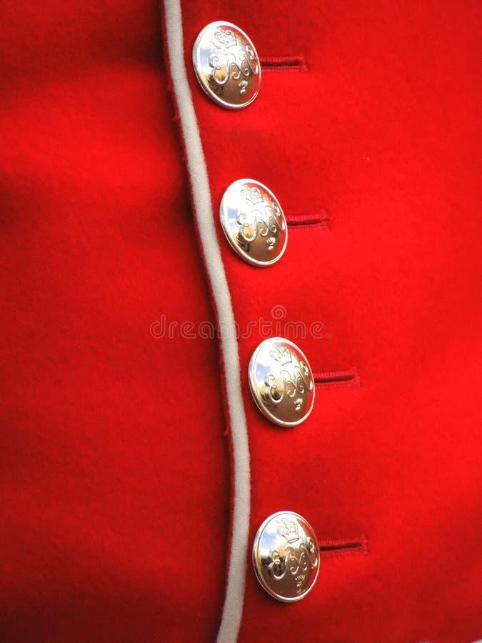 Grenadjär Guards Tunic royaltyfria bilder
