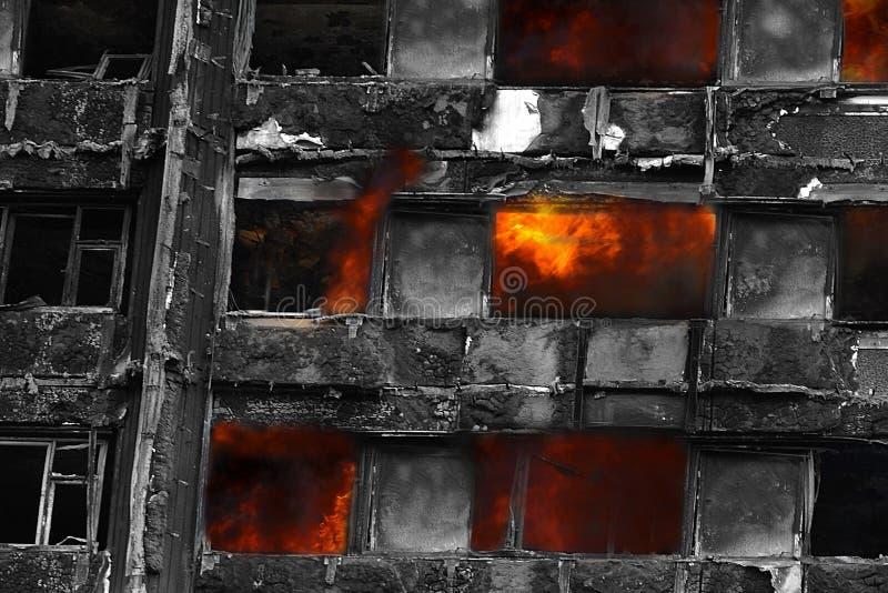 Grenfell tornbrand fotografering för bildbyråer