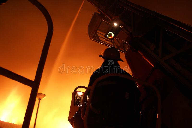 Grenfell tower fire,. Grenfell tower block fire, fire service areal platform stock photography