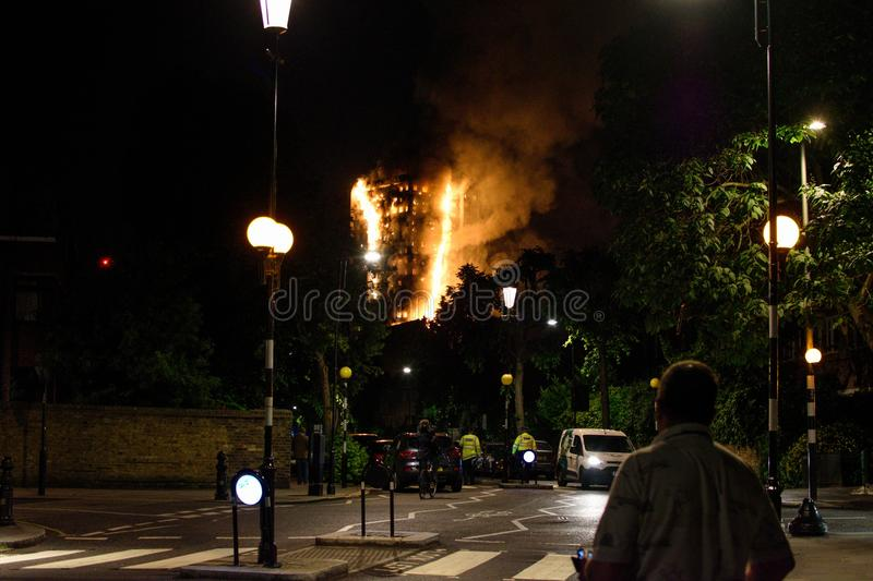 Grenfell Tower Fire stock photography