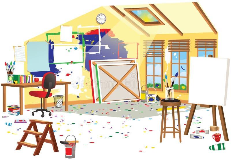 Grenier d'artistes illustration de vecteur