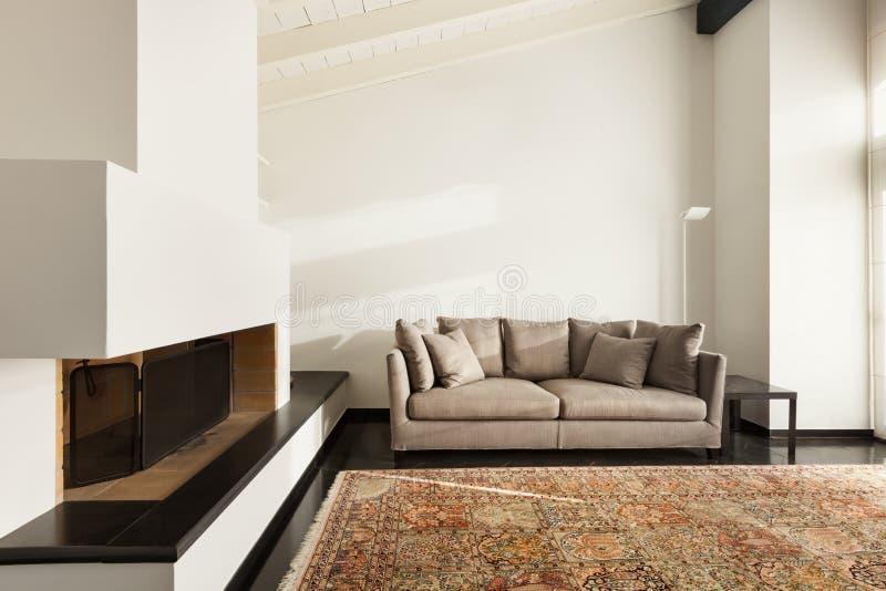 Grenier intérieur et confortable photo stock