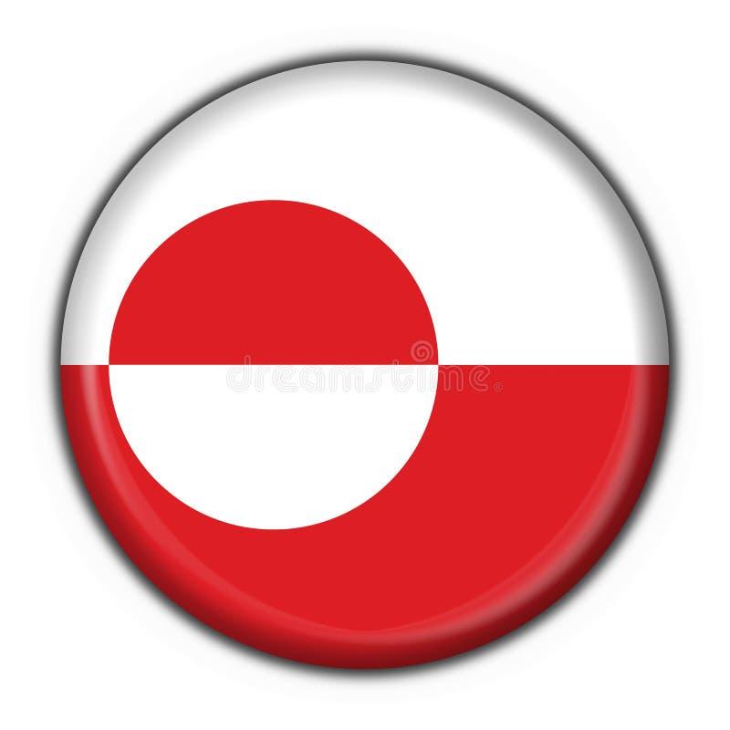 Grenlandia bandery guzik rundę sh royalty ilustracja