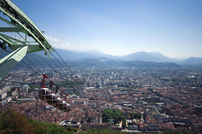 Download Grenoble aerial view stock photo. Image of bauble, funicular - 10740770