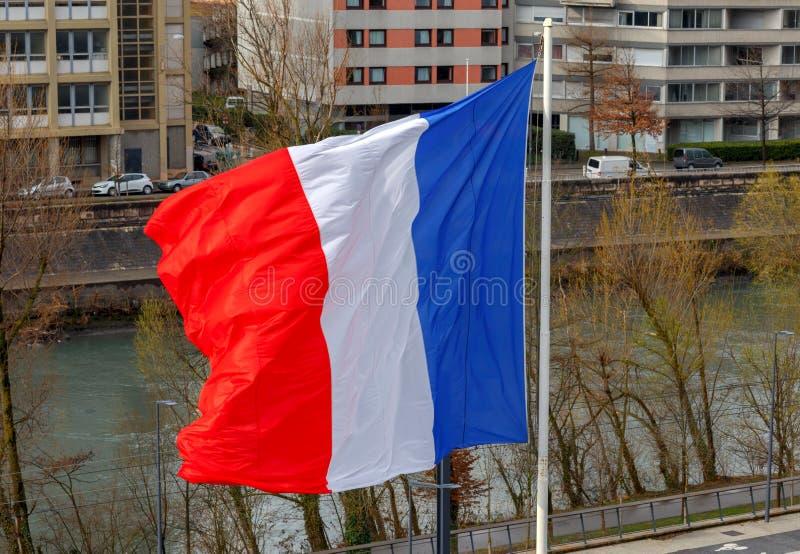 grenoble Drapeau français national images libres de droits