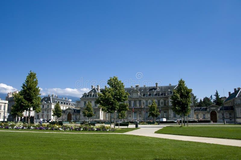 Grenoble-Stadtquadrat lizenzfreies stockbild