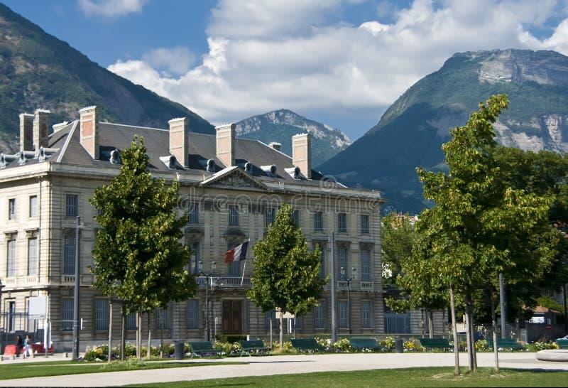 Grenoble-Stadtquadrat lizenzfreie stockfotos