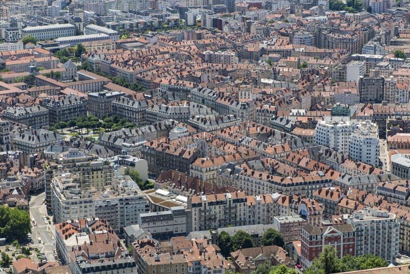 Grenoble tak royaltyfri foto