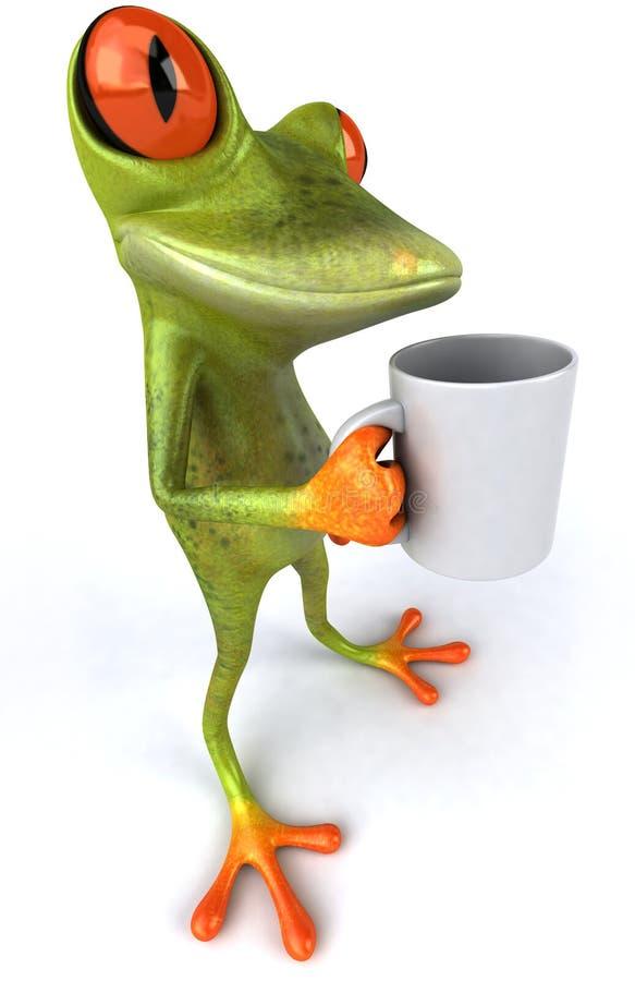Grenouille avec du café