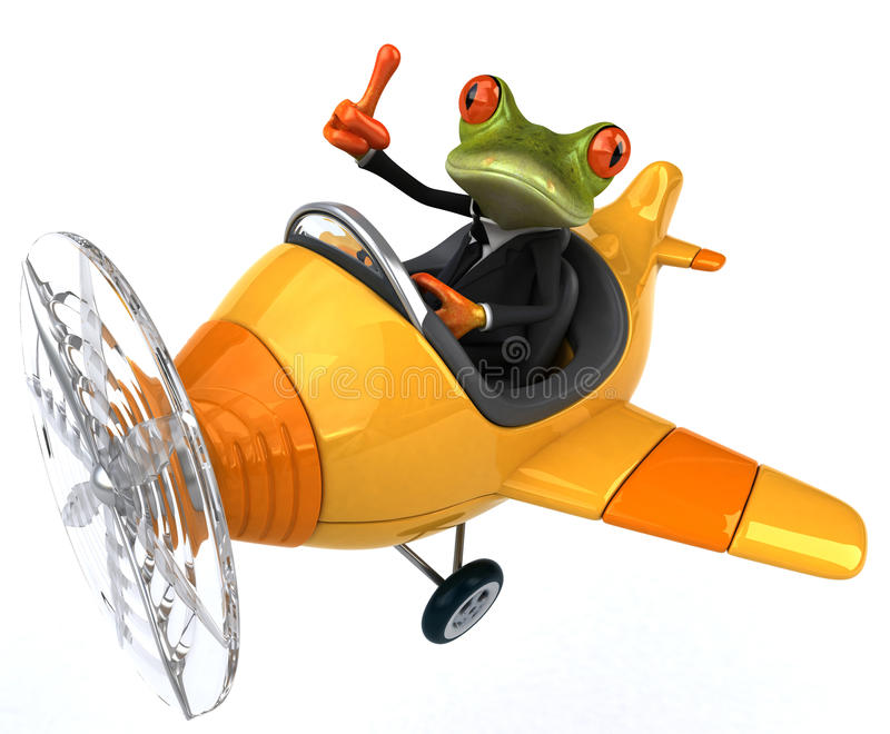 Grenouille d'amusement illustration stock