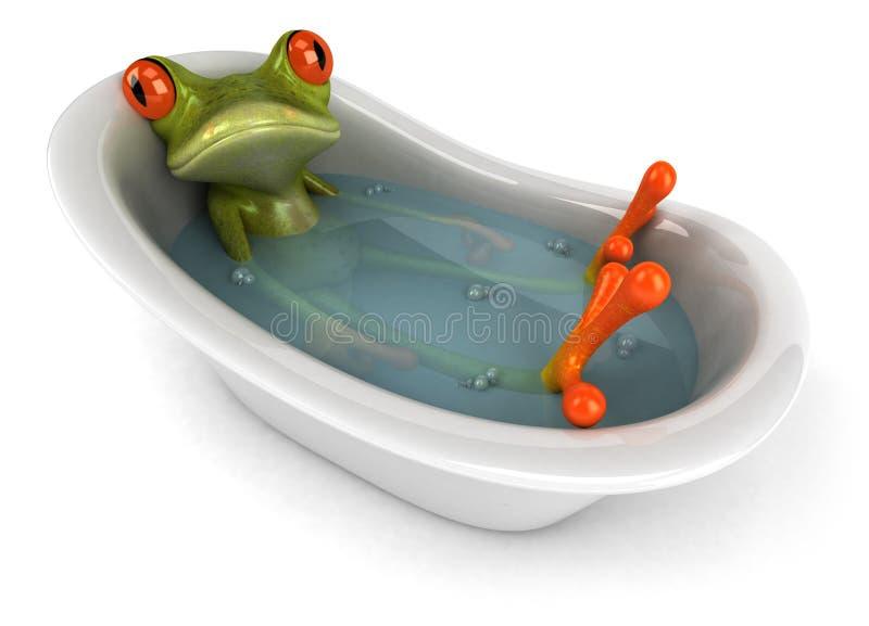 Grenouille dans un bain illustration de vecteur