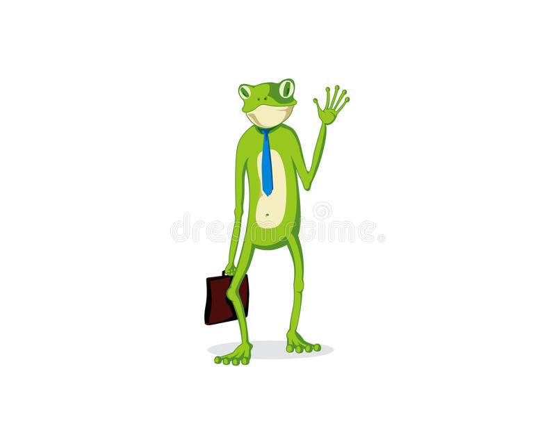 Grenouille de bureau images stock