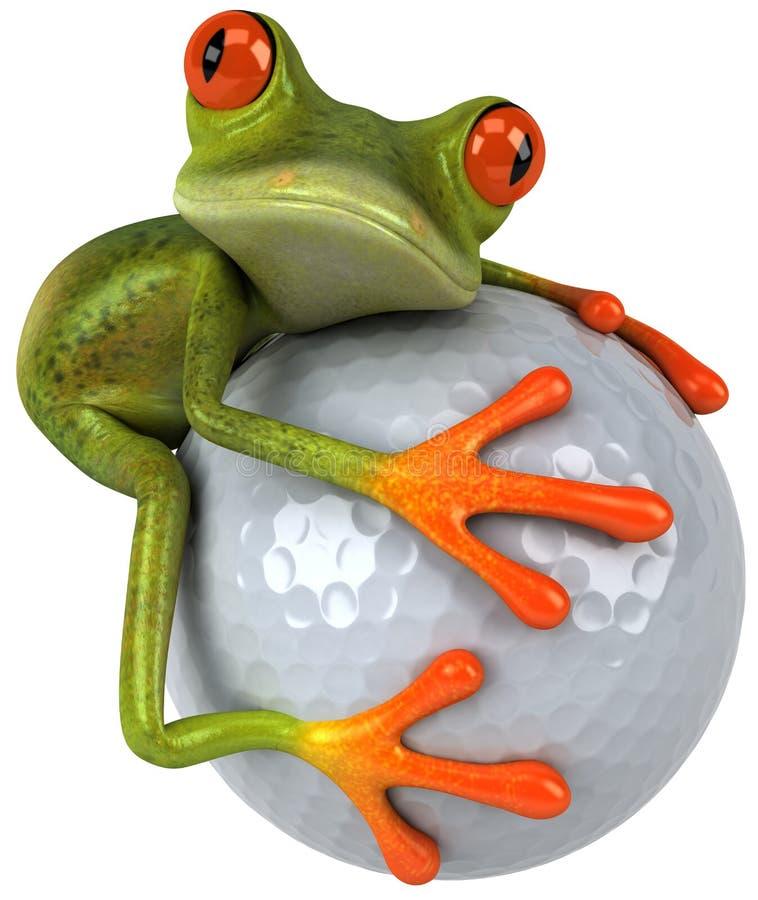 Grenouille et golf illustration libre de droits
