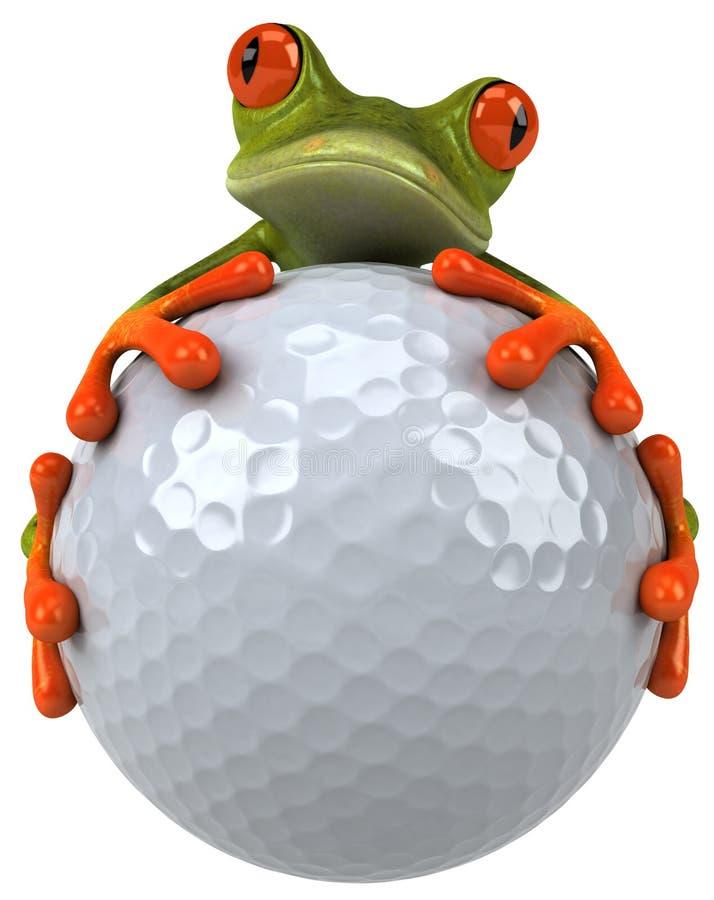 Grenouille et golf illustration de vecteur