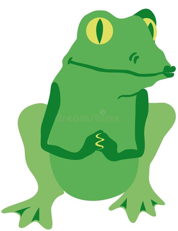 Grenouille gluante - prince enchanté illustration libre de droits
