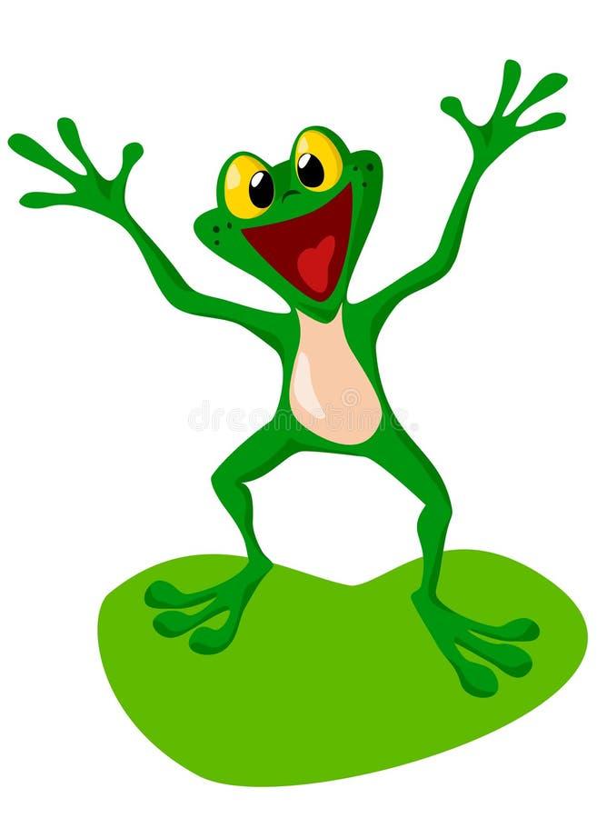 Grenouille heureuse illustration de vecteur