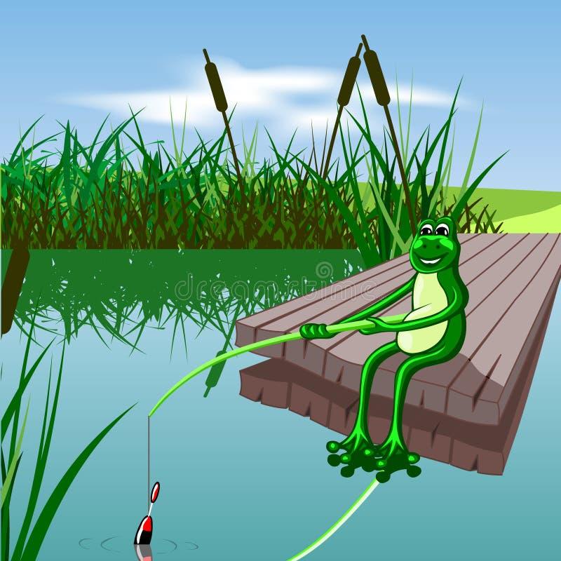 Grenouille verte illustration stock