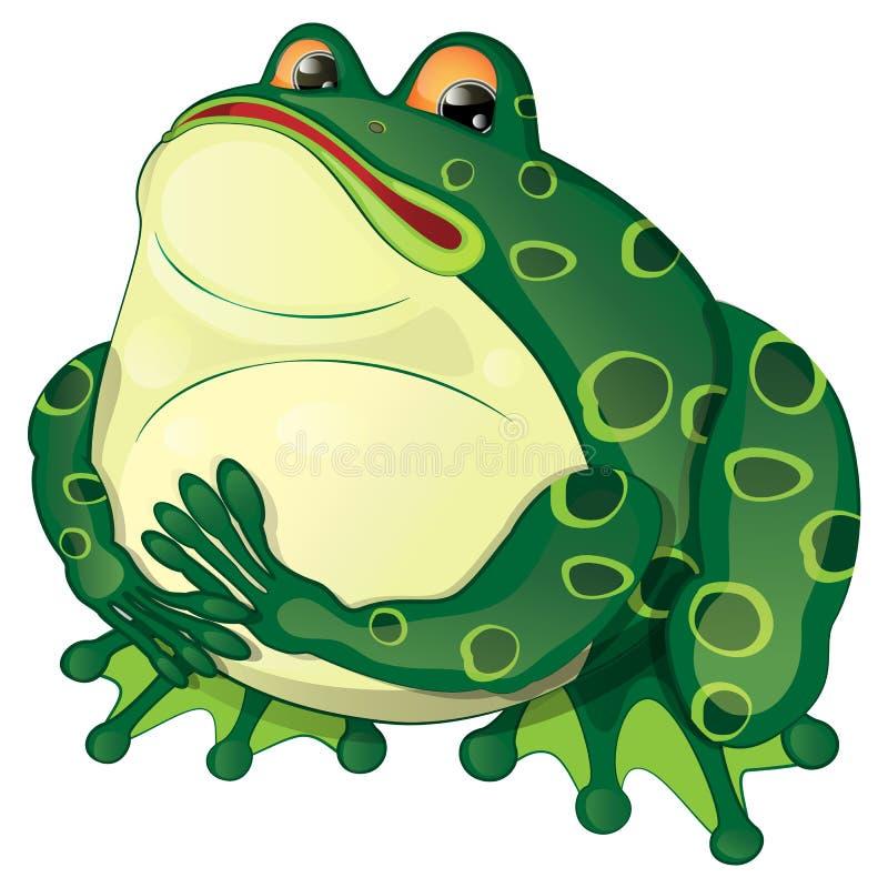 Grenouille verte illustration de vecteur