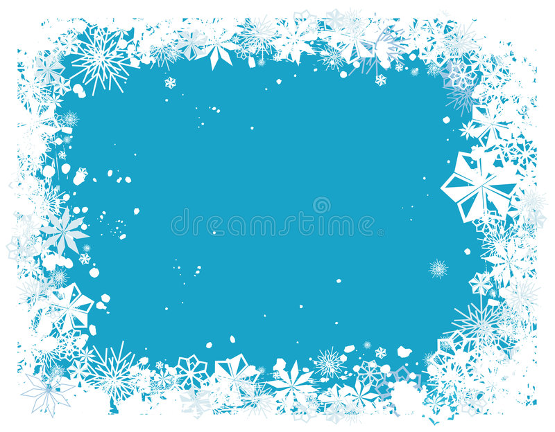 Grens 1 van de sneeuwvlok royalty-vrije illustratie
