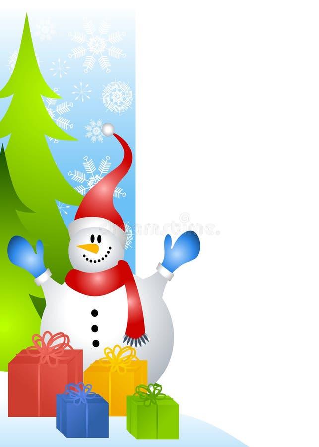 Grens 2 van de Pagina van de sneeuwman royalty-vrije illustratie