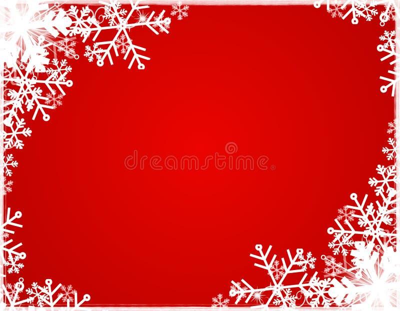 Grens 2 van het Silhouet van de sneeuwvlok royalty-vrije illustratie