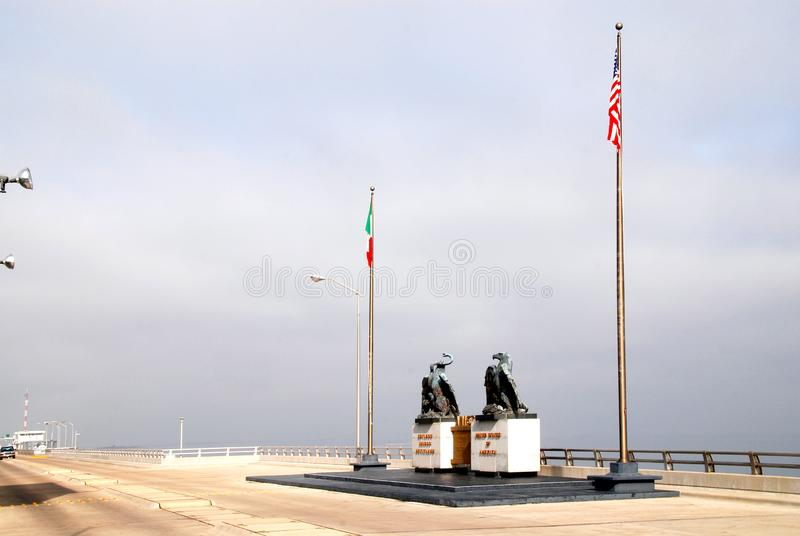 Grens de Mexico-V.S. stock afbeeldingen