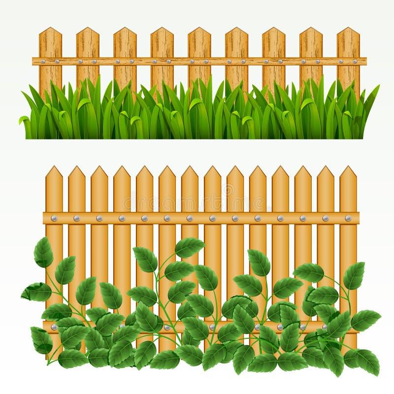 Grens en omheining. vector illustratie