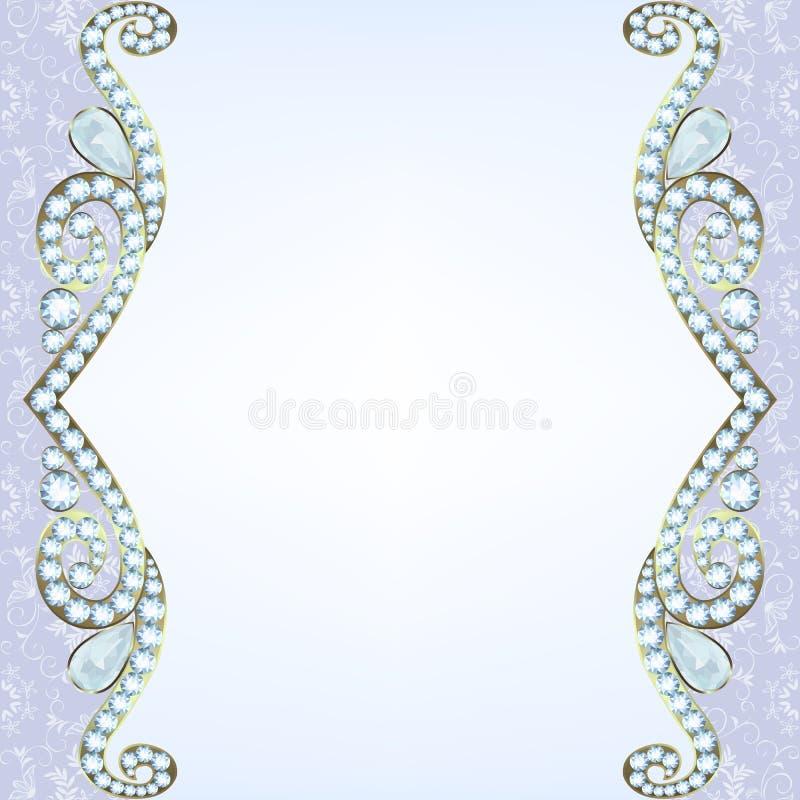 Grens met diamanten vector illustratie