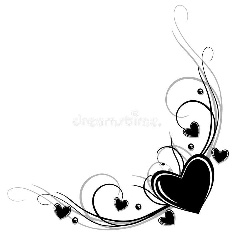 Grens met harten royalty-vrije illustratie