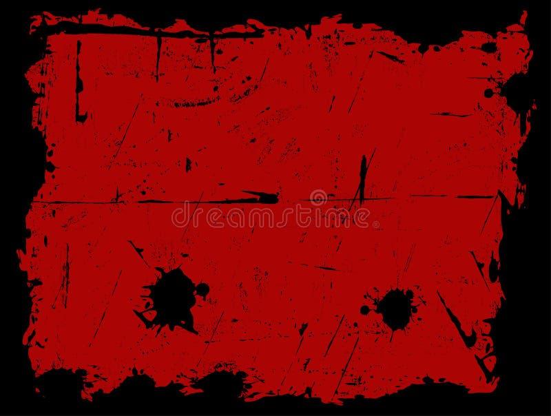 Grens met Rode Achtergrond royalty-vrije illustratie