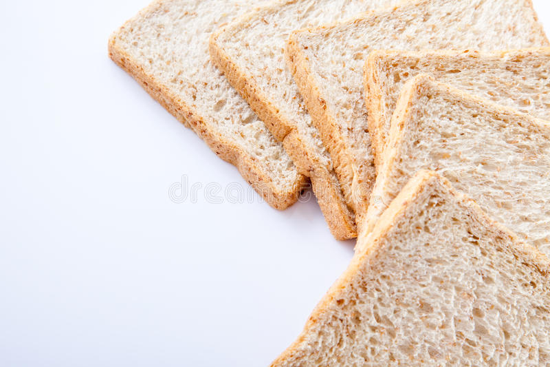 Grens van brood van de plak het gehele tarwe royalty-vrije stock afbeeldingen