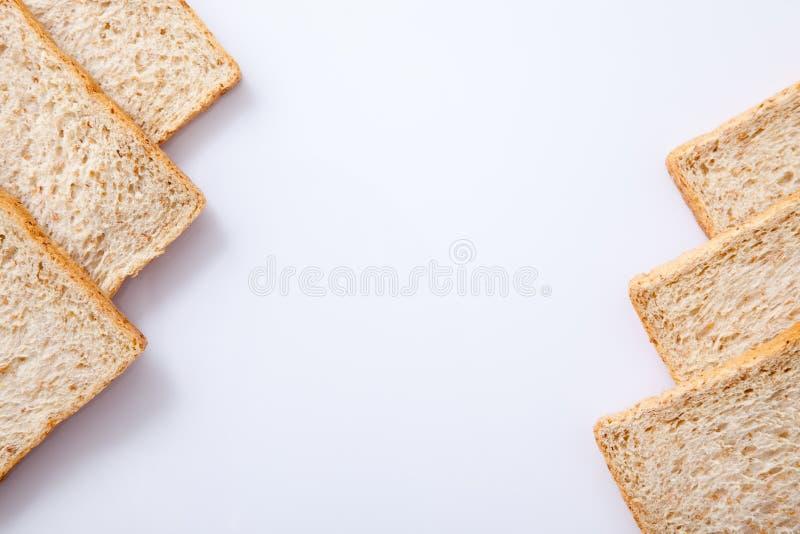 Grens van brood van de plak het gehele tarwe stock afbeelding