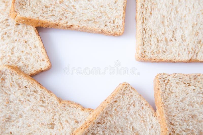 Grens van brood van de plak het gehele tarwe royalty-vrije stock foto