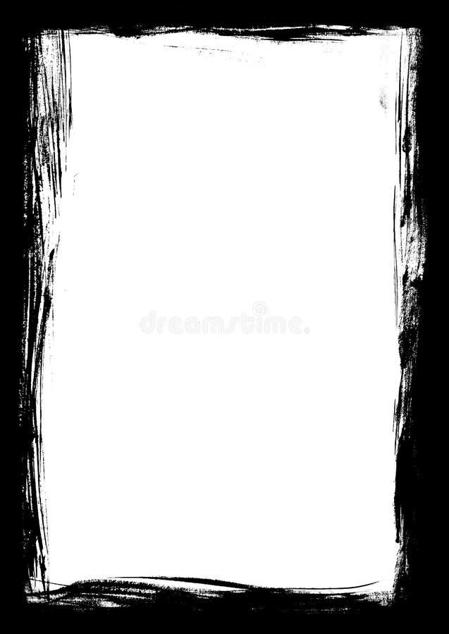 Grens van de slagen van de Verf vector illustratie