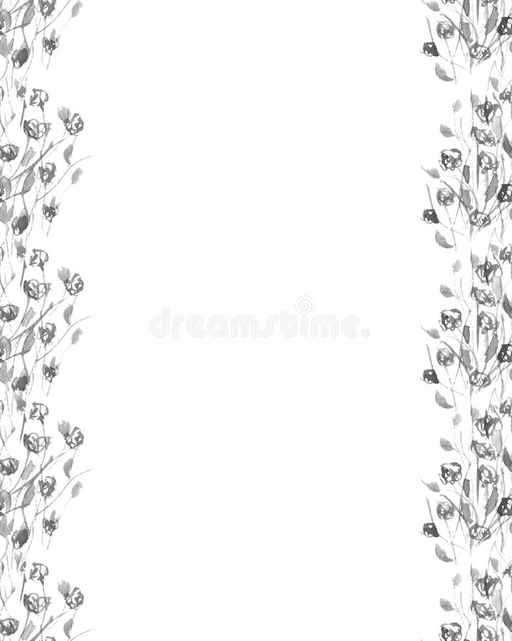 Grens van grijze wildflowers royalty-vrije stock foto